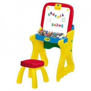 Crayola fold n go art studio desk With stool 2-in-1 Art Desk Converts To Easel