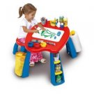 Crayola Creativity Play Table With Stool Brushes Eraser & Paper Roll Holder