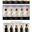 Lego BRIDE & GROOM Wedding Minifig Red Hair Shoulder Length