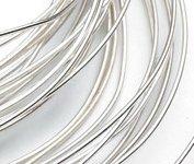 """Fine Pure Silver Round Wire 99.99% 1.0mm Dia x 12"""""""