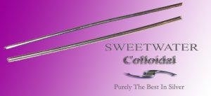 """Sweetwater Colloidal 1.5mm  6"""" 99.99 Pure Silver Wire Rods"""
