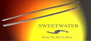 "Sweetwater Colloidal 2mm 5"" 99997 Ultra Pure Silver Wire Rods"