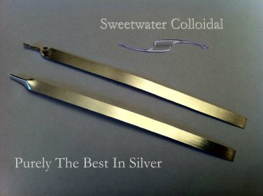 """Sweetwater Colloidal 6"""" 4.8mm Wide 99.99 Pure Silver Wire Band"""