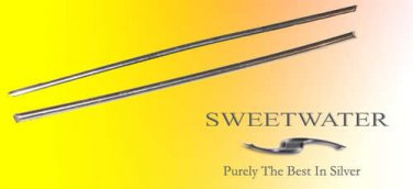"""Sweetwater Colloidal 1.5mm  4"""" 99.99 Pure Silver Wire Rods"""