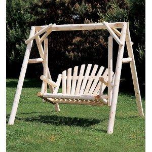 Rustic American Garden Swing - 5' Swing