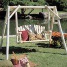 Rustic American Garden Swing - 4' Swing