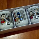Korean Wine Glass Set (depicting five traditional korean activities)