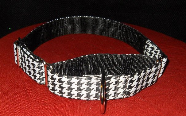 1 inch Martingale Collar with Houndstooth Pattern