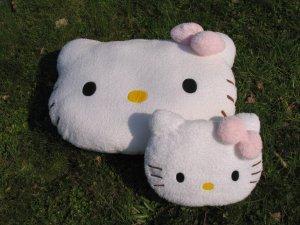 Sanrio Hello Kitty head plush cushion (medium)