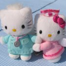 Sanrio Hello Kitty Nurse & Doctor mini plush set