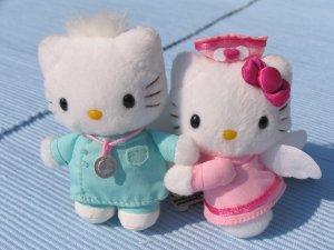 Sanrio Hello Kitty Nurse & Doctor mini plush set