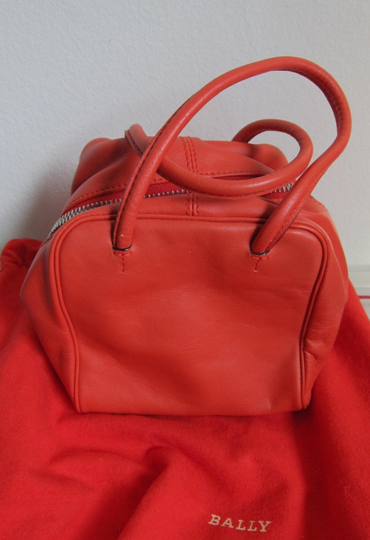 New small Bally vermilion handbag