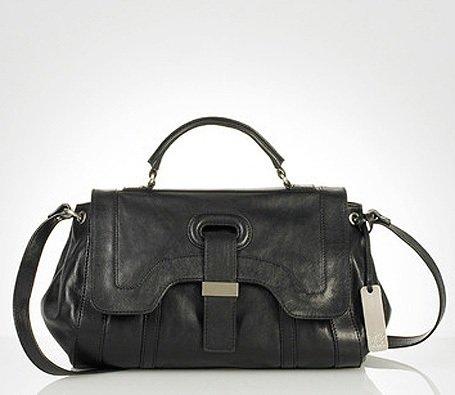 $575 Botkier CHARLOTTE Leather Satchel -Black NWT