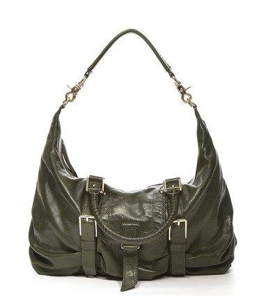 $595 Botkier SASHA medium duffle LEATHER Bag in Hunter Green NWT