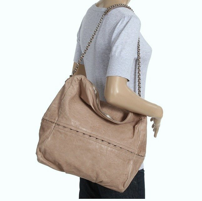 $595  Botkier Bleeker Hobo in Nude Lambskin Large Leather Bag NWT