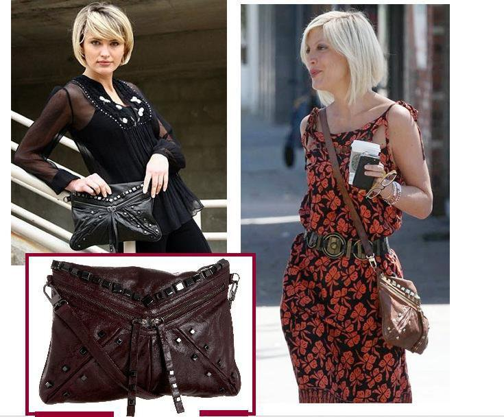 $365 -Treesje Jovi Cross-Body Bag -in Bordeaux NWT