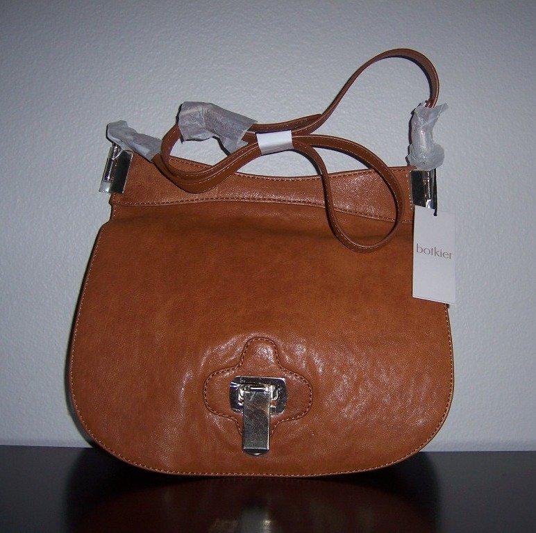 $425  Botkier BRINKS Shoulder Bag in Saddle Lambskin NWT