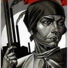 Sovet Political Postcard / Emancipated Woman – Build Up Socialism! 1926 ussr new