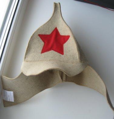 Wool HAT SAUNA BANYA Budyonovka USHANKA Bath Steam CAP NEW budionovka budenovka