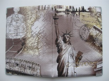 Vinyl Passport Cover / abstraction Statue of Liberty / Personal Travel Case Holder / NEW / #5
