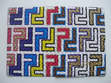 Vinyl Passport Cover / abstraction labyrinth / Personal Travel Case Holder / NEW / #7