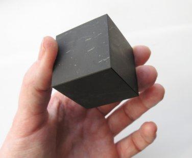 Cube polished Shungite Stone Healing Crystal Karma Reiki Karelia#917 173gr Rare, Shungit, Schungit
