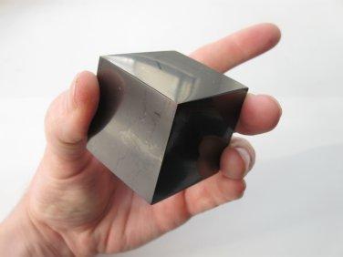 Cube polished Shungite Stone Healing Crystal Karma Reiki Karelia#928 174gr Rare, Shungit, Schungit