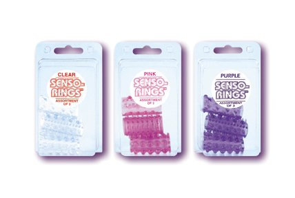 Senso Rings - 3 Pack - Clear