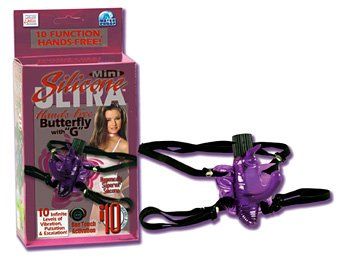 Mini Silicone Butterfly G Strap-On Vibrator