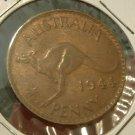 AUSTRALIA 1944(P) One Penny -- KM36 -- nice AU R/B