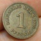 GERMANY 1889-A 1 Pfennig - KM1 - nice XF - Berlin
