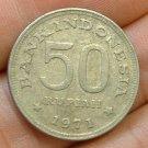 INDONESIA 1971 50 Rupiah -- KM35 -- XF 1 yr type - Bird