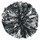 "cheerleading pom 3/4*6"" pom zebra in silver and black pom poms baton dual-head 14pairs"