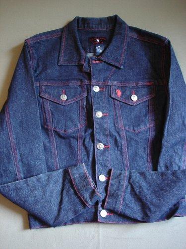 Kids Girls Denim Stretch Jacket by US Polo Assoc Size M NEW
