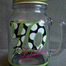 Glass Drink Mug With Handle 40 & Fabulous NEW