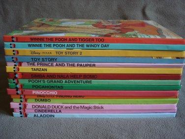 Childrens Disneys Wonderful World Of Reading Hardcover Books Lot of 15