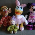 T18 Disney Characters Lot of 4 Daisy, Dopey, JAQ Mouse & Minnie Mouse