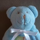 N39 Infant Baby Nursery Security Blanket Blue Bear Home Decor