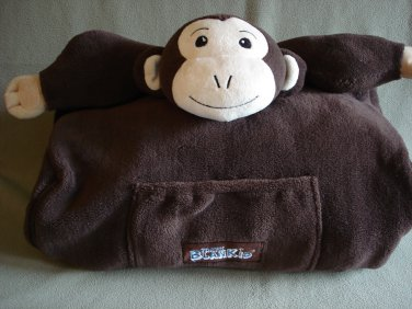 Cabeau Travel BlanKid Buddy Makemba Monkey Backpack, Blanket, Pillow, & Animal