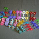 Home Kitchen Pastry Cake Cupcake Decoration Picks & Rings Lot of 70
