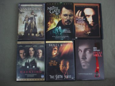 DVD�s Lot of 6 Horror Total 6 Movies