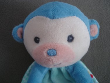 N114 Infant Baby Nursery Security Blanket Fisher Price Blue Monkey