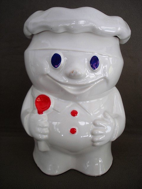 Vintage McCoy Doughboy Cookie Jar Bob the Baker  Bobby Baker Pillsbury Dough Boy