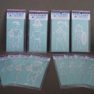 Eye Candy Decals NEW Lot of 12 Stick People