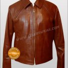 Inception ARTHUR Brown Vintage Cowhide Leather Jacket