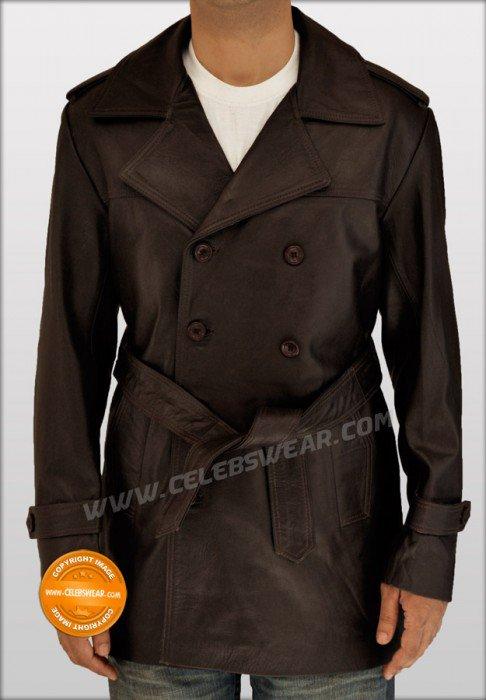 Mystic River Jimmy Markum Brown Long Leather Jacket