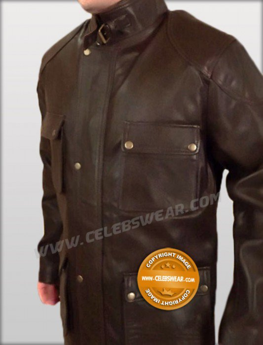 Four Brothers Brown Cowhide Leather Jacket / Coat