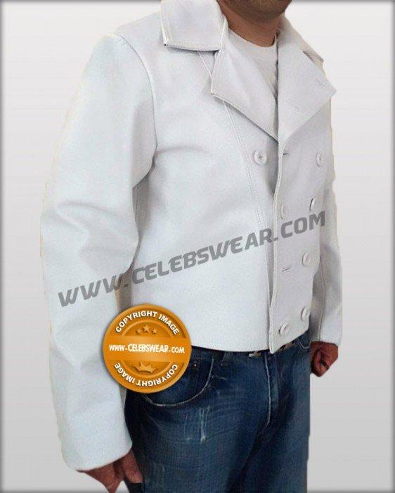 3:10 to Yuma Charlie Prince White Heavy Leather Jacket