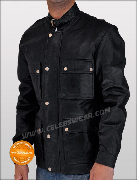 Curious Case of Benjamin Button Panther Leather Jacket