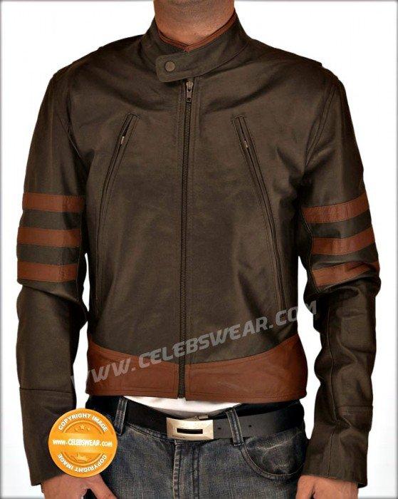 XMen Origins Logans Wolverine Brown Cool Leather Jacket